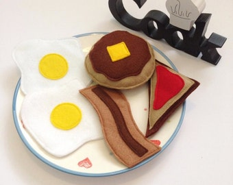 Felt Play Food, Felt Breakfast, Play Food Set, Pretend Play