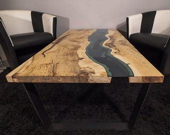 SOLD Live edge river coffee table SOLD