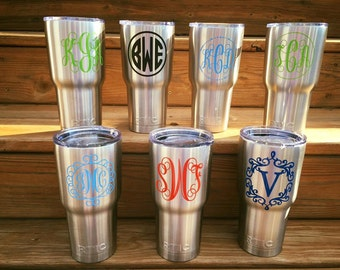 RTIC Cup Decal, Customized Decal, Custom Personalization, Car Decal, Window Decal