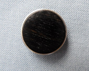 Handmade click button in ebony