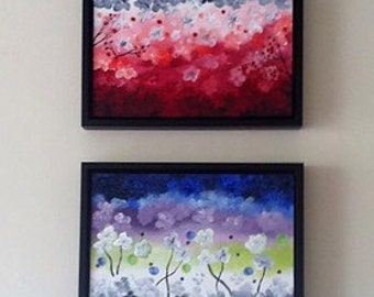 Colourful Abstracts Set of Two