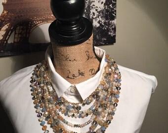 Swaroski mulit chain necklace