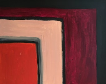 Square Shapes: Abstract Modern Oil Painting