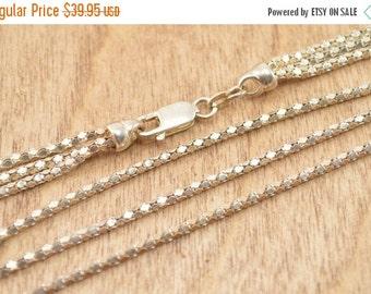 ON SALE Popcorn Chain Necklace Sterling Silver 13.1g Vintage Estate