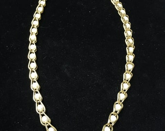 Vintage Napier Choker, Necklace, Goldtone with Pearlike