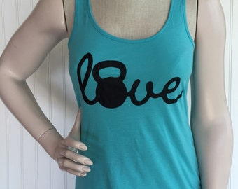 Love Kettlebell workout tank top