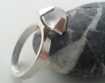 Swedish ALTON modernist silver ring. -69