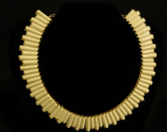 Vintage Art Deco Choker and Matching Bracelet, Earrings Included Do Not Match Set, Signed Trifari