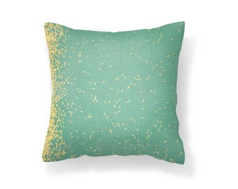 Teal Steel Pillow Cover, Decorative Pillow Cover, Throw Pillow Cover