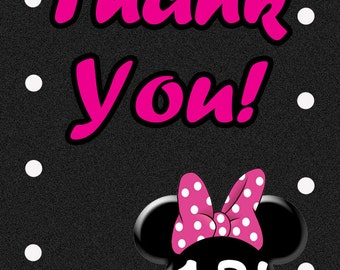Minne Mouse 2x3 (Wallet) Thank You Card DIGITAL DESIGN