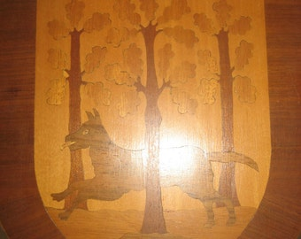 WOLFHAGEN Wood Plaque 1960s Germany