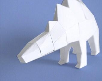Sculpture de dinosaure en papier à monter