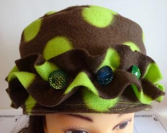 Fleece Polka Dot Hat