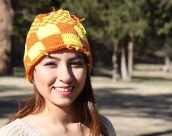 Checker board hat
