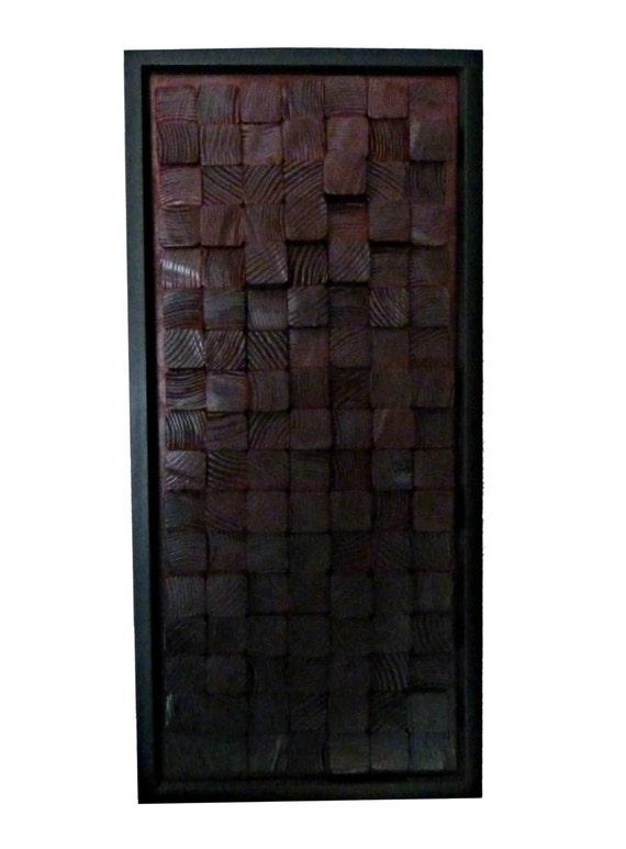 modern wooden block 3 dimensional wall art with by wanesworld