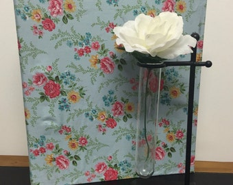 Wedding Planner Book /Organiser In Baby Blue with Floral Print for a DIY Bride to Be