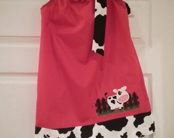 Barnyard Dress, Farm Dress, Cow Dress