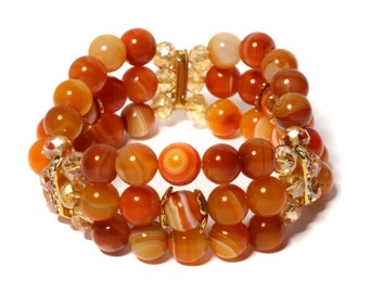 Bracelet from natural stones of agate a mood Improver