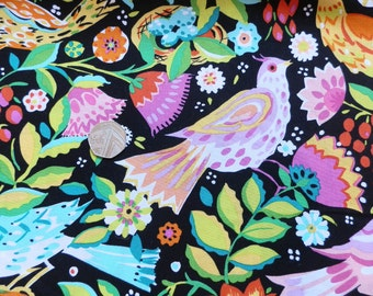 MICHAEL MILLER FABRIC printed folk bird DC6863 fabric