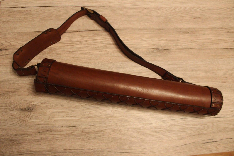 Handmade runic back leather quiver  Handmade runic ...