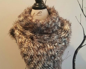 "The Katniss Cowl, an Asymmetrical Vest in ""Calico"""