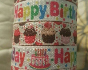 Set of Birthday Hair Ties