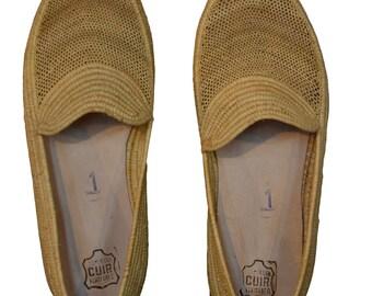 shoe moccasin raffia model 03