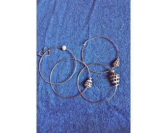 Sterling Silver Shell Bangles