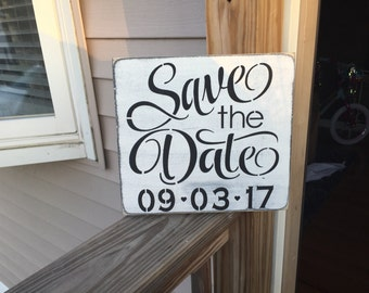 Save the date/ engagement prop/ wedding wood sign