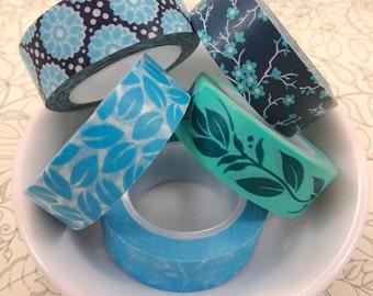 WASHI TAPE: Blooming Blue