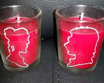 Set of Han and Leia star wars candle holders