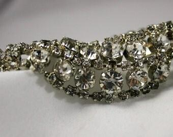 Vintage Rhinestone Bracelet Costume Jewelery