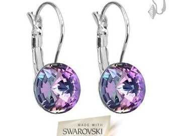 Earrings Swarovski Elements ® Violet