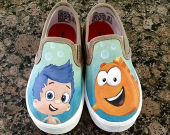Custom Painted Shoes BUBBLE GUPPIES