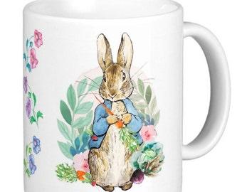Peter Rabbit | Peter Rabbit Gift Mug | Peter Eating A Carrot Mug | Gift Mugs - Can be customized/Customised