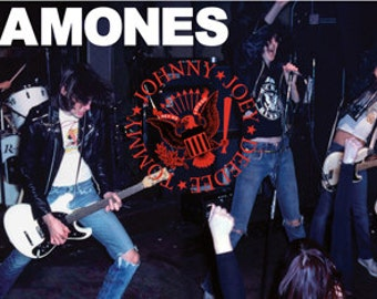 The Ramones Live Poster - Rare Punk Rock - New 24x36