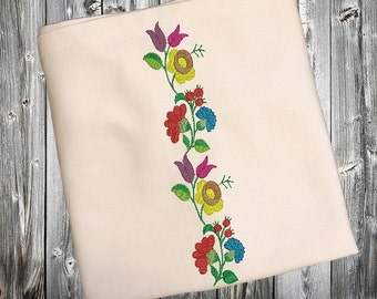 Kalocsa flower For Machine Embroidery Hoop Sizes 6x10 INSTANT DOWNLOAD available