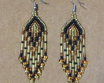 Beautiful earrings huichol art