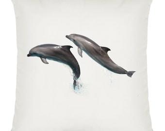 Dolphins Design Soft Plush Cushion Approx 40cm x 40cm Machine Washable