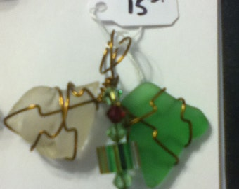 Butterfly Seaglass pendant