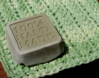 Leafy Green Hand Soap with Crocheted Washcloth