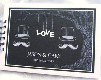 Personalised Mr  Mr / Mrs  Mrs / Wedding / Engagement / Anniversary  Photo Scrapbook Album / Guest Book