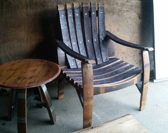 Wine barrel deck chair