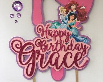 Princess Birthday Cake Topper