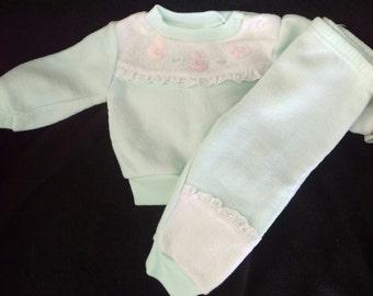 Retro Infant Sweat Suit, Retro Baby