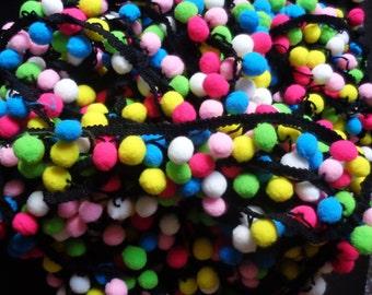1 inch wide Pom Pom Trim Ball Fringe Ribbon price for 1 yard