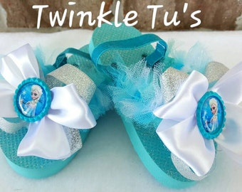 Frozen Elsa Tutu Flip Flop Sandals, Shoes