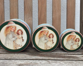 Vintage Nested Tins Set 3