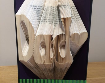 Folded Book Art 'Dad' Birthday Keepsake Unique Gift