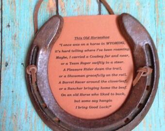 Wyoming horseshoe with poem